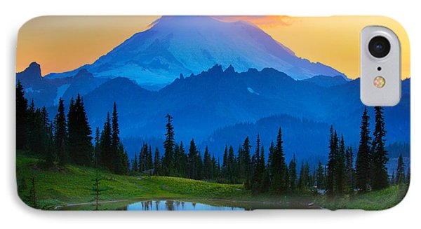 Mount Rainier Goodnight Phone Case by Inge Johnsson