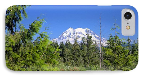 IPhone Case featuring the photograph Mount Rainier by Gordon Elwell