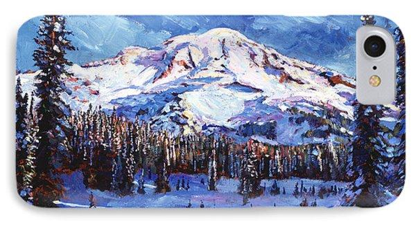 Mount Rainier Impressions IPhone Case by David Lloyd Glover