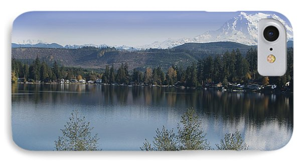 Mount Rainier In The Fall IPhone Case by Ron Roberts
