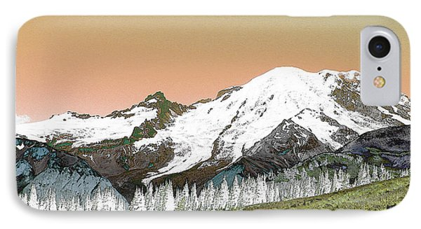IPhone Case featuring the photograph Mount Rainier National Park II by Ann Johndro-Collins