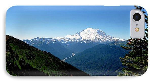 Mount Rainier Seen From Crystal Mountain Summit  4 IPhone Case by Tanya  Searcy