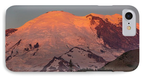 Mount Rainier Sunrise IPhone Case by Bob Noble Photography