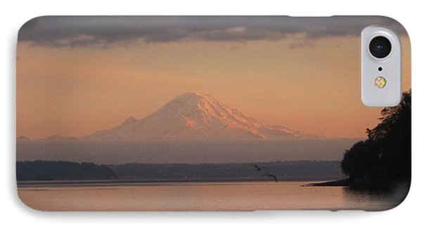 IPhone Case featuring the photograph Mount Rainier Sunset by Karen Molenaar Terrell