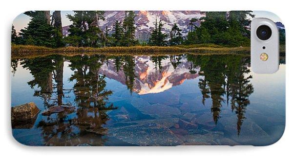 Mount Rainier Tarn IPhone Case by Inge Johnsson