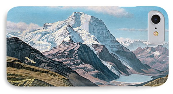 Mount Robson From The Air    Phone Case by Paul Krapf