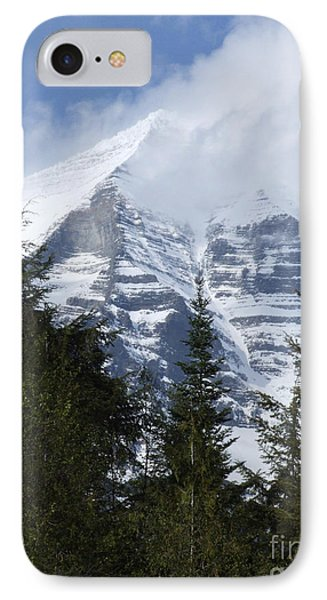 Mount Robson - Spindrift IPhone Case by Phil Banks