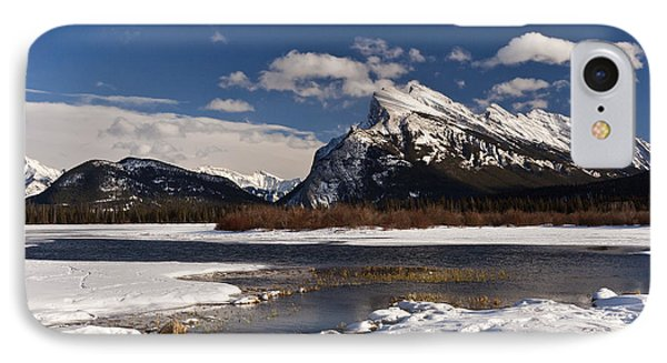 Mount Rundle IPhone Case by Dee Cresswell
