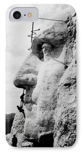 Mount Rushmore Construction Photo IPhone Case by War Is Hell Store