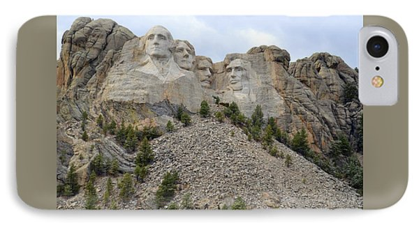 Mount Rushmore In South Dakota IPhone Case by Clarice  Lakota