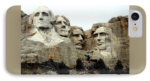 Mount Rushmore Presidents IPhone Case by Clarice  Lakota
