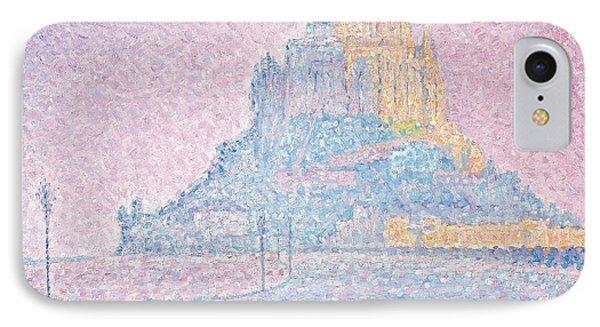 Mount Saint Michel Fog And Sun Phone Case by Paul Signac
