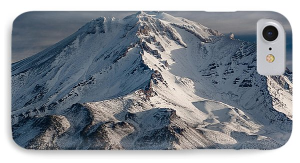 Mount Shasta Close-up IPhone Case by Greg Nyquist