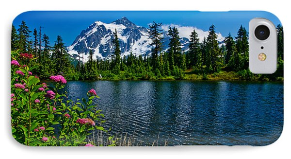 Mount Shuksan And Highwood Lake IPhone Case