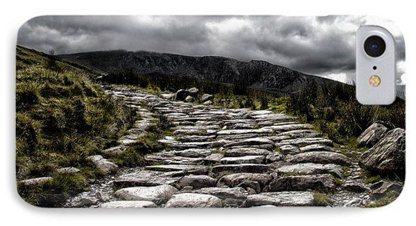 Mount Snowdon Path Phone Case by Jane Rix