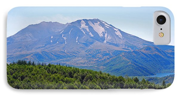 Mount St. Helens And Castle Lake In August IPhone Case by Connie Fox