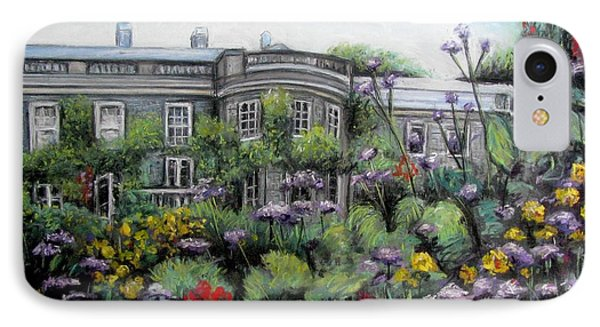 IPhone Case featuring the painting Mount Stewart House In Ireland by Melinda Saminski