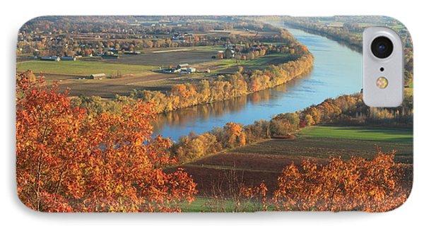 Mount Sugarloaf Connecticut River Autumn IPhone Case by John Burk