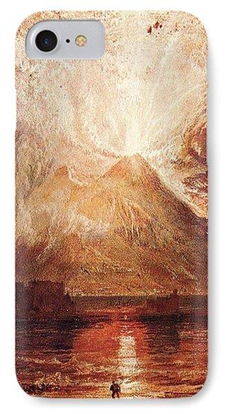 Mount Vesuvius In Eruption 1817 IPhone Case by J M W Turner