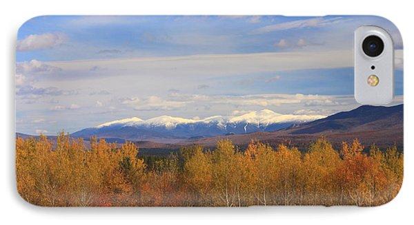 Mount Washington And Presidential Range Snow Foliage IPhone Case by John Burk