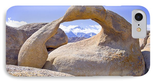 Mount Whitney Framed By The Mobius Arch Phone Case by Priya Ghose