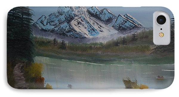 IPhone Case featuring the painting Mountain And River by Ian Donley