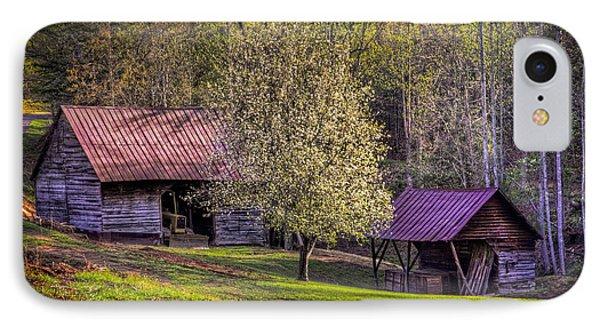 Mountain Barns In North Carolina Phone Case by Debra and Dave Vanderlaan