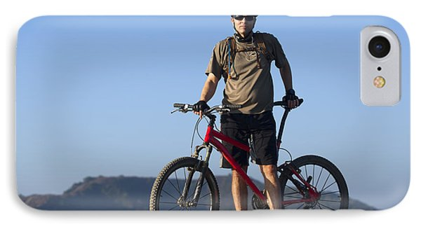 Mountain Biker Phone Case by Mike Raabe