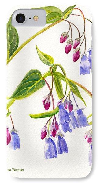 Mountain Bluebells Vertical Design IPhone Case by Sharon Freeman