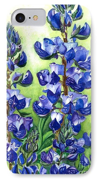 IPhone Case featuring the painting Mountain Blues Lupine Study by Barbara Jewell