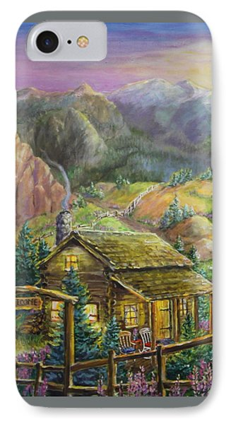 Mountain Cabin IPhone Case by Jan Mecklenburg