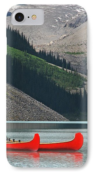 Mountain Canoes IPhone Case by Marcia Socolik