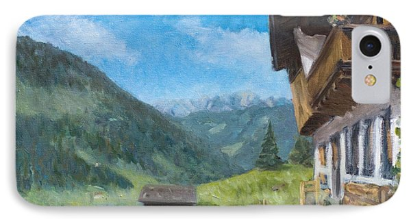 Mountain Farm In Austria Phone Case by Marco Busoni