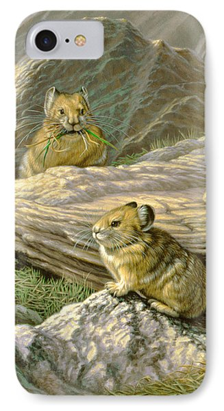 Mountain Haymakers - Pika Phone Case by Paul Krapf