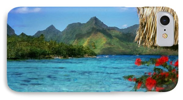IPhone Case featuring the painting Mountain Lake by Bruce Nutting