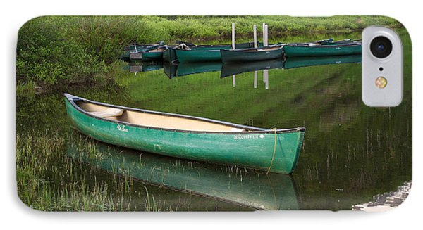 Mountain Lake Canoe IPhone Case