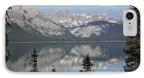 Mountain Lake Reflecting Mountain Range Phone Case by Michael Interisano