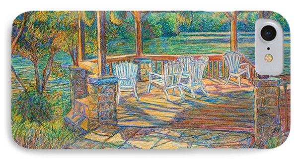 Mountain Lake Shadows IPhone Case by Kendall Kessler