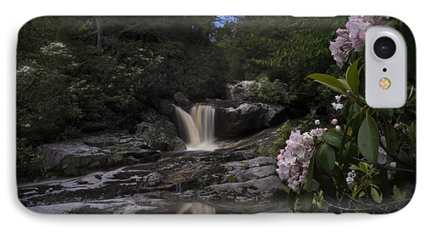 Mountain Laurel And Falls On Small Stream Phone Case by Dan Friend