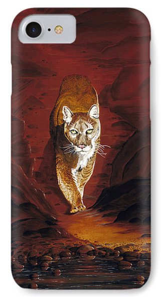 Mountain Lion IPhone Case by Carl Genovese