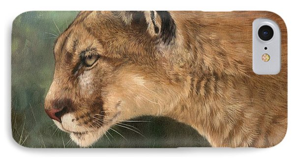 Mountain Lion IPhone Case by David Stribbling
