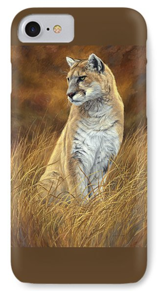 Mountain Lion IPhone Case by Lucie Bilodeau