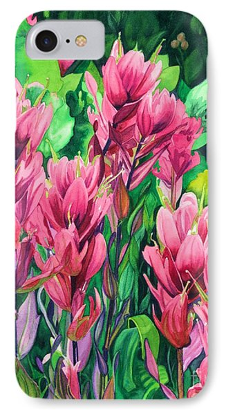 Mountain Meadows' Paintbrush IPhone Case by Barbara Jewell