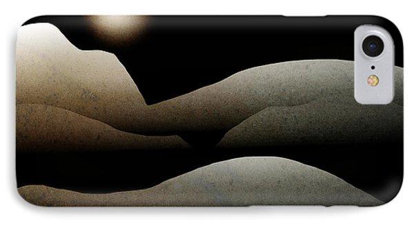 Mountain Moonlight Landscape Art Phone Case by Christina Rollo