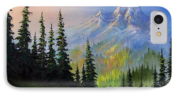 Mountain Morning IPhone Case by C Steele