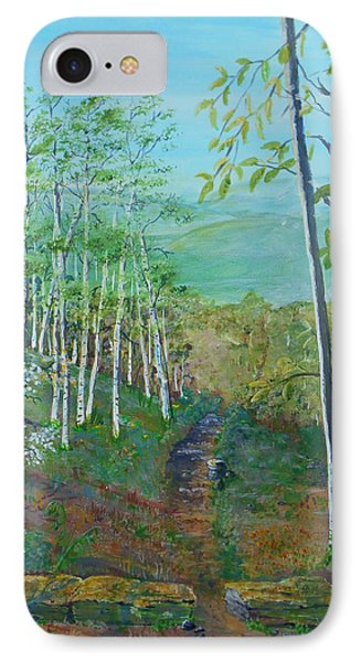 Mountain Path IPhone Case by Christine Lathrop