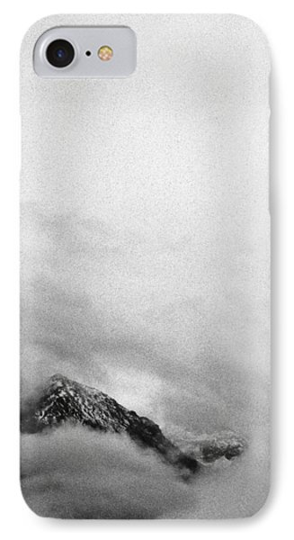 Mountain Peak In Clouds IPhone Case by Peter v Quenter
