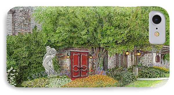 IPhone Case featuring the painting Mountain Playhouse Jennerstown Pa by Albert Puskaric