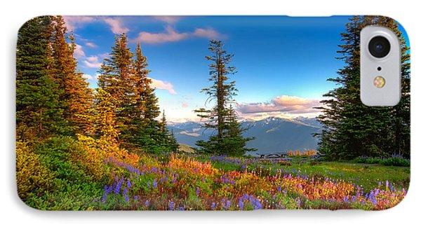 Mountain Rainier  Sunset IPhone Case by Emmanuel Panagiotakis