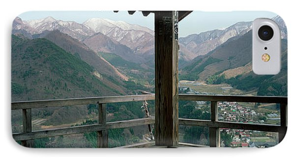 Mountain Range From A Balcony IPhone Case by Panoramic Images